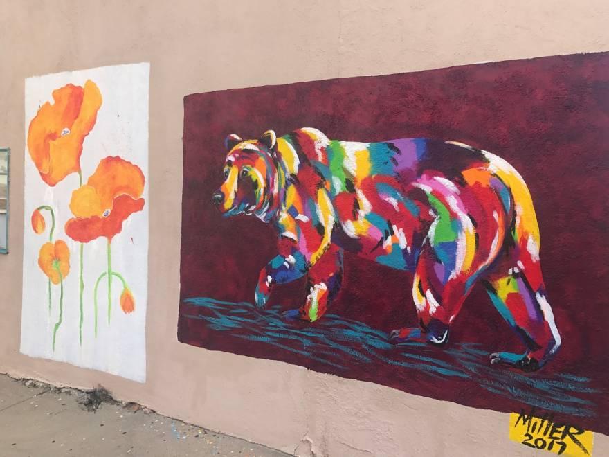 Colorful Bear Mural