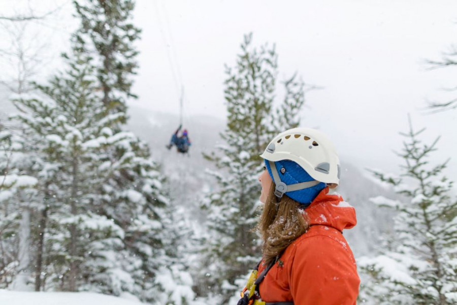 winter zipline