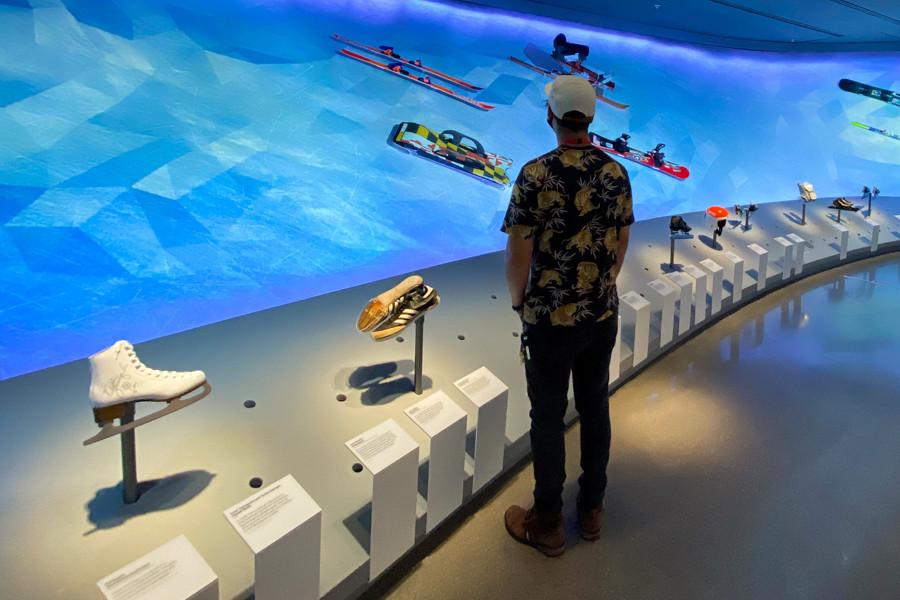 olympic footwear display