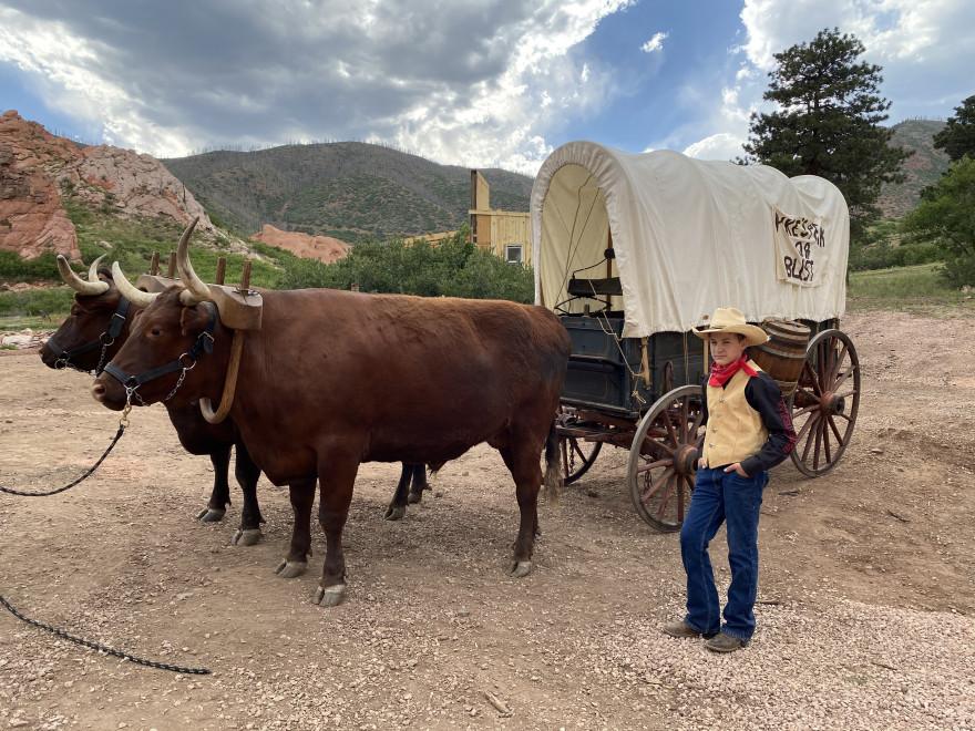 Flying W Ranch wagon ride