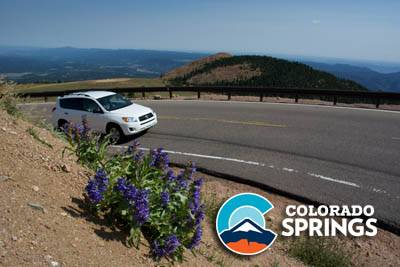 Driving Up Pikes Peak Highway