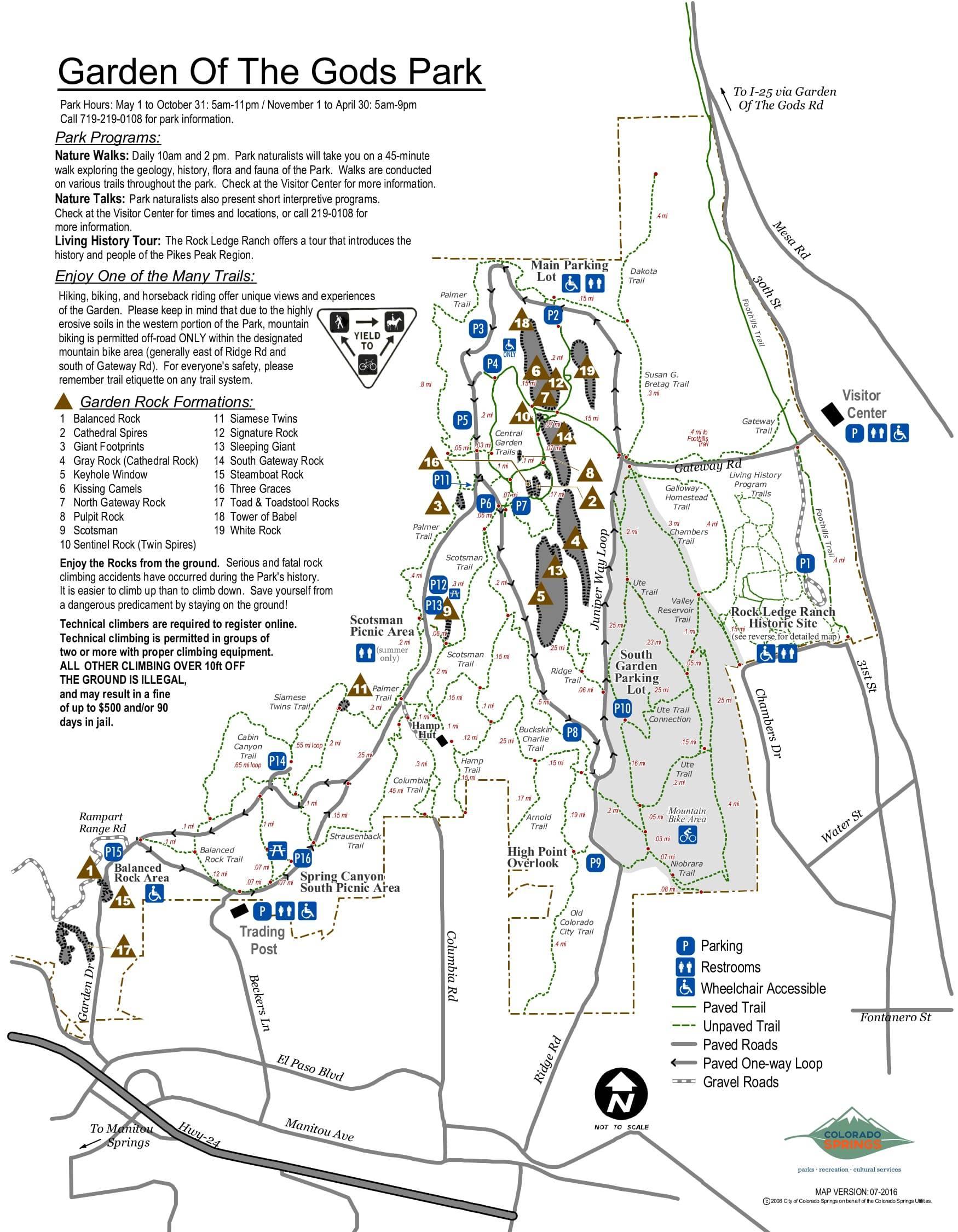 garden of the gods colorado springs map arizona map