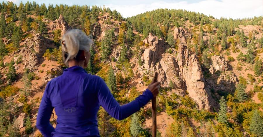 autumn hiking near Colorado Springs