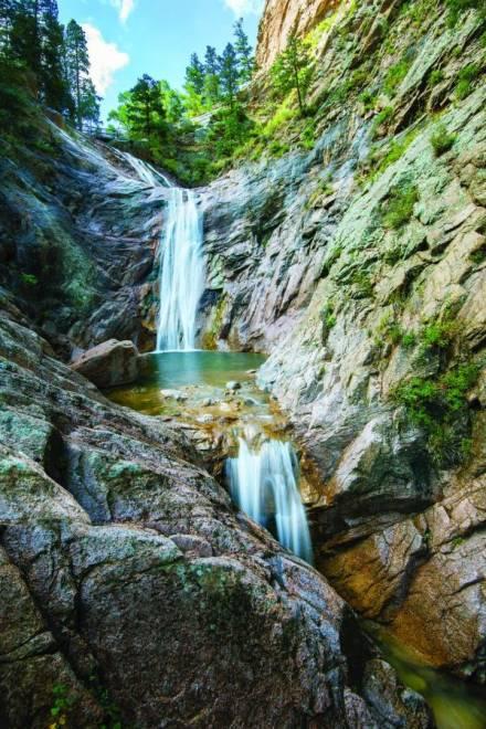 Four PhotoWorthy Waterfalls Visit Colorado Springs Blog - Colorado waterfalls map